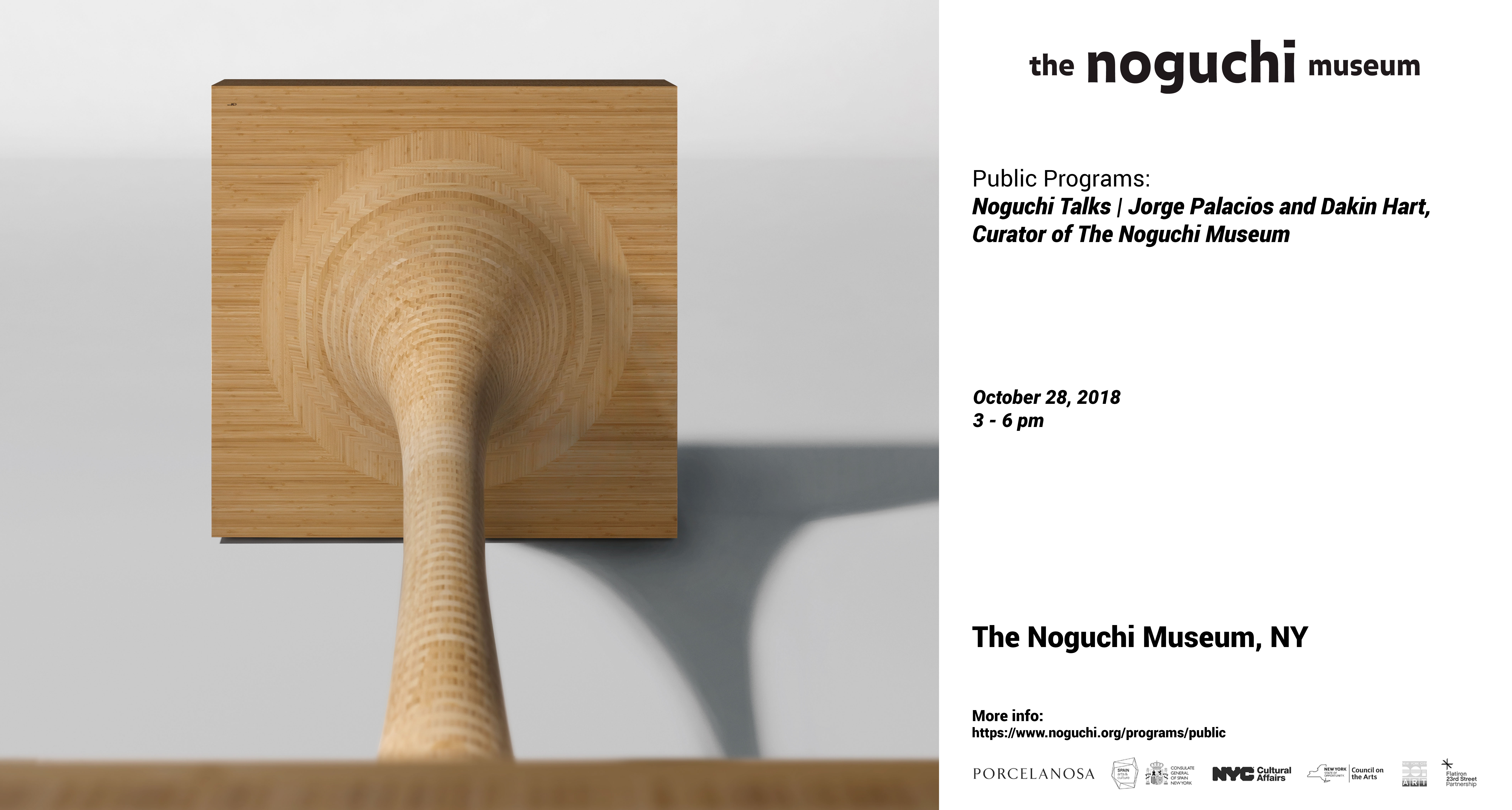 "Noguchi Talks: Jorge Palacios and Dakin Hart, walkthrough of the exhibition ""Jorge Palacios at The Noguchi Museum"""