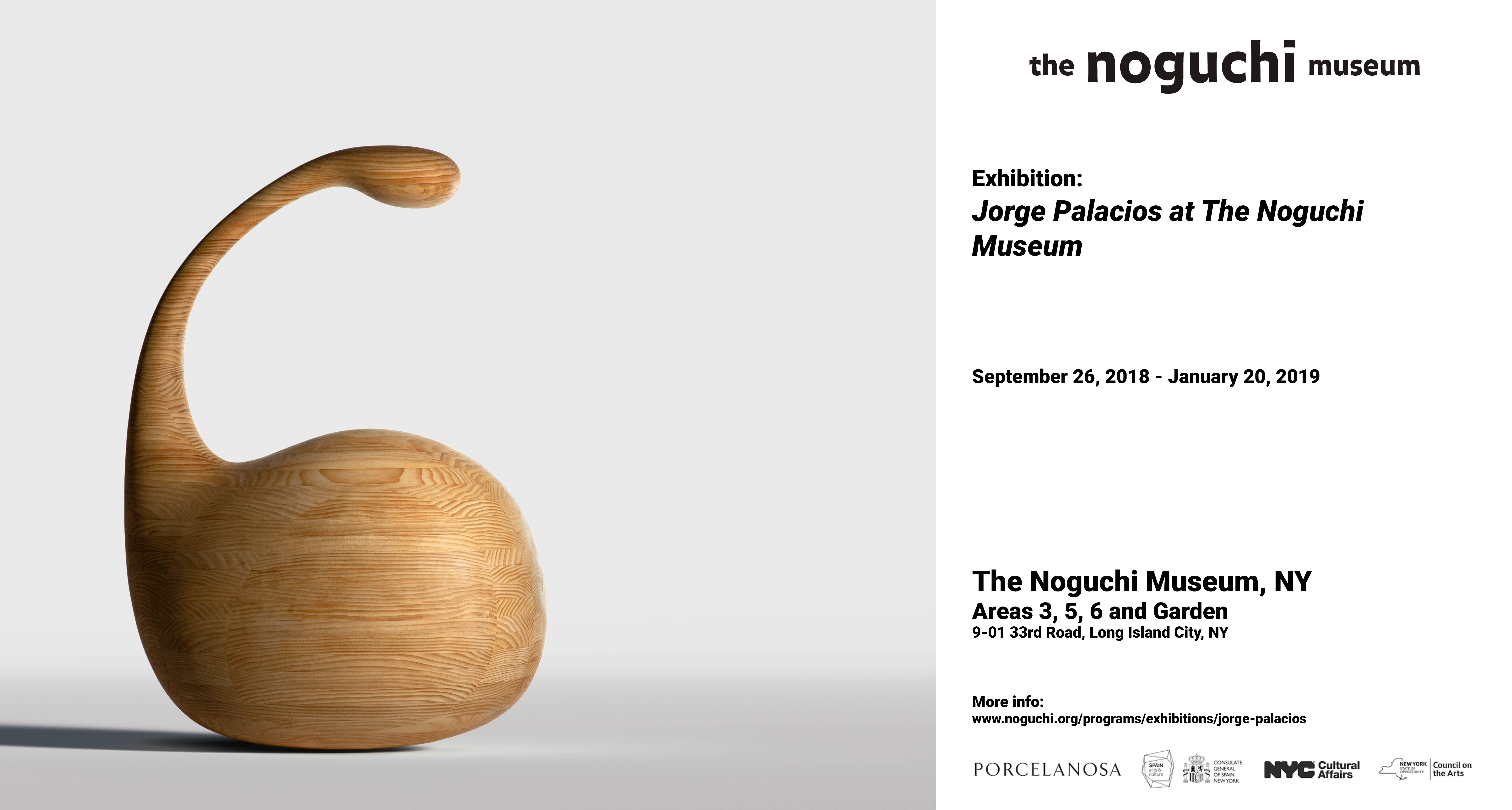 Exhibition Jorge Palacios at The Noguchi Museum, New York