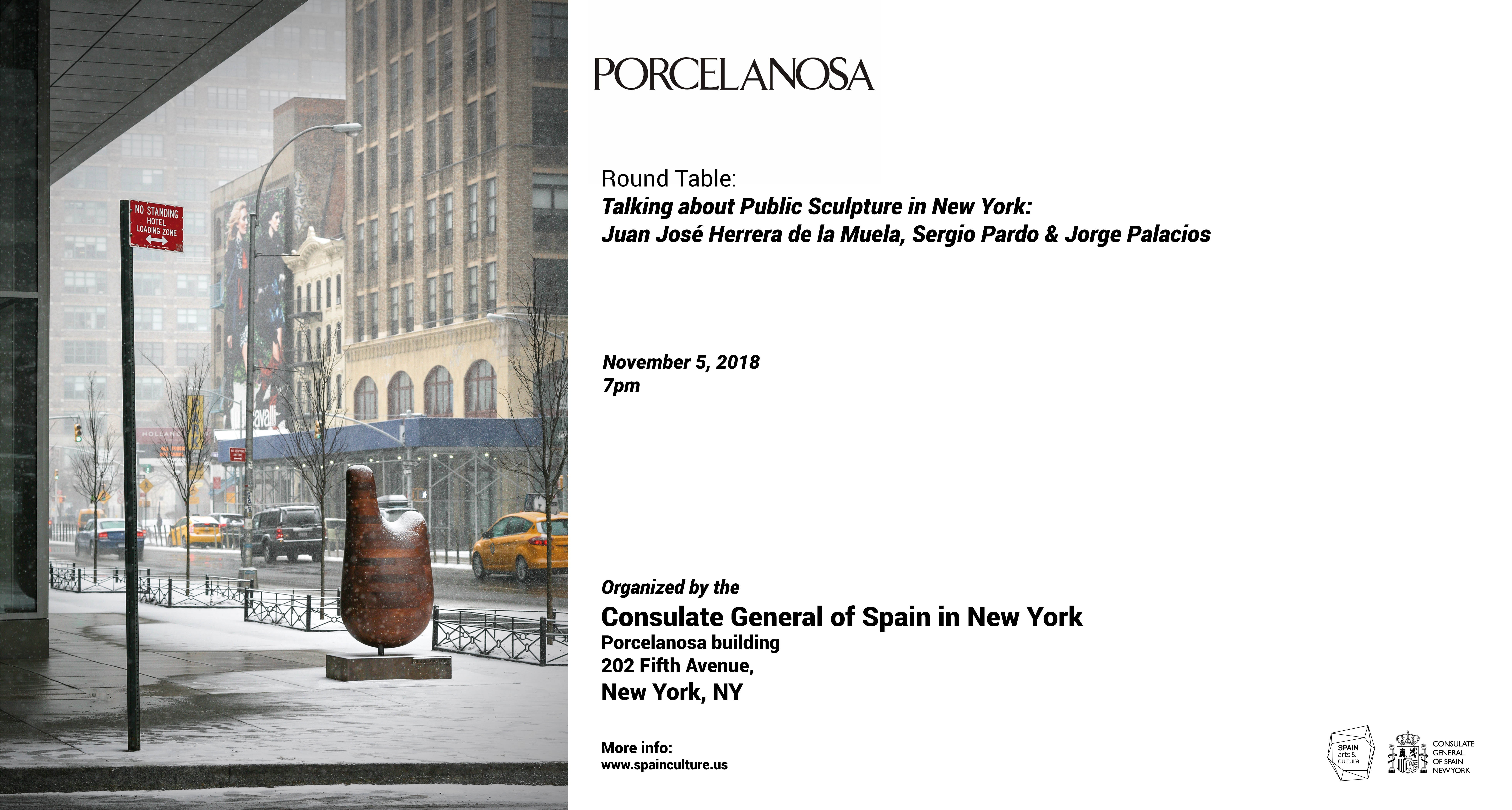 Jorge Palacios invited to the round table: Talking Public Sculpture New York